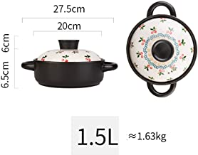 Practical Casserole XLTCG Stoneware Slow Soup Pot Chinese Cooking Pot, Ceramic Casserole Dish With Lid For Oven - Mini Pan...