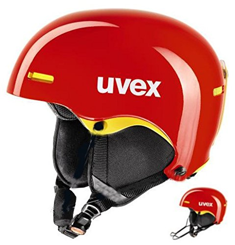 Uvex hlmt 5 Race chilired/Yellow Skihelm 59-62
