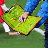 Gidenfly Tabla táctica de entrenadores de 20 x 12.2 pulgadas, equipo de asistente de entrenamiento profesional portátil de fútbol/fútbol con piezas de marcador, borrando la pluma