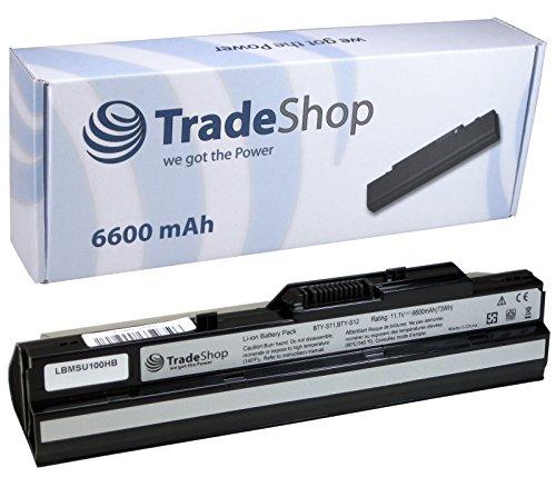Hochleistungs Notebook Laptop Akku 6600mAh für Medion MD-96727 MD-96888 MD-96891 MD-96909 MD-96910 MD-96912 MD-96914 MD-96925 MD-96926 MD-96952 MD-96953 MD-97160 MSI Wind U90X U100X MS-N1