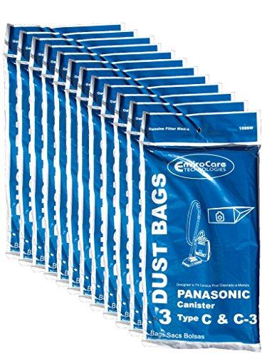36Panasonic Typ C C-3C3Allergy Staubsaugerbeutel, Kanister Staubsauger, mc-125p, mc125p, mc771, mc772, mc8310, mc8320, mc8330