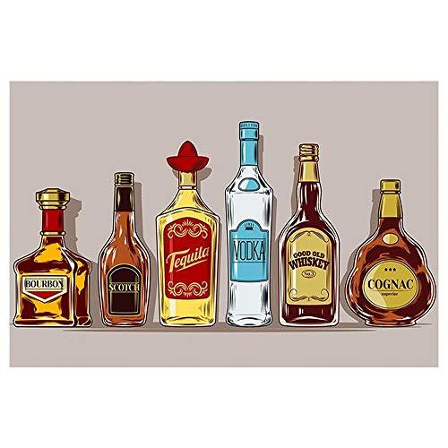 Cartel Vintage de whisky, cartel de chapa de Metal, cartel de Metal Retro, pegatinas de pared, carteles artísticos para Bar, decoración de 20x30 cm, azul marino