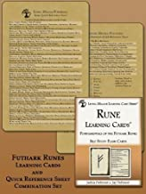 Futhark Runes: Learning Cards & Quick Reference Sheet Combination Bundle (Living Magick Learning Cards) [Loose Leaf] [Jan ...