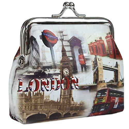 1a-becker Kleine Damen Geldbörse London Big Ben Tower Bridge Portmonee Geldbeutel
