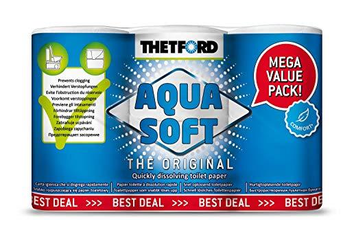 Thetford Aqua Soft Camping Toilettenpapier 6 Rollen