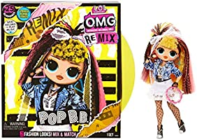 LOL Surprise OMG Remix Pop B.B. Fashion Doll, Plays Music, with Extra Outfit and 25 Surprises Including Shoes, Hair...