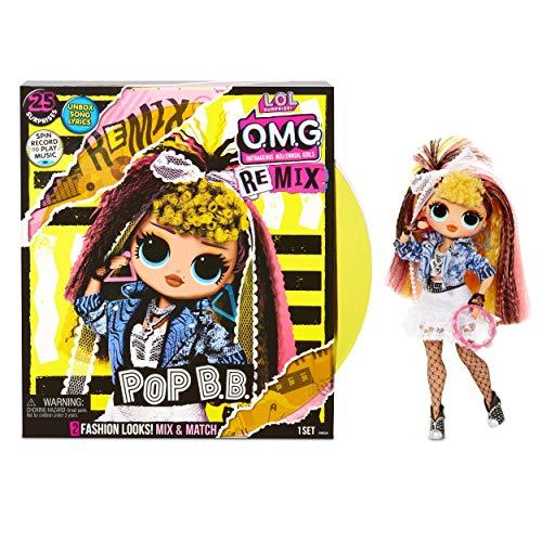 L.O.L. Surprise! 567257E7C O.M.G. Remix Doll Pop B.B., Fasion-Puppe mit zwei Outfits und jeder Menge Zubehör, insgesamt 25 Überraschungen