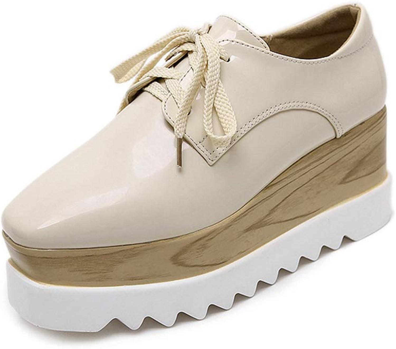 U-MAC Womens Flat High Top Sneakers Fashion Lace Up Tassels Height Increasing Ankle Girls Walking Booties