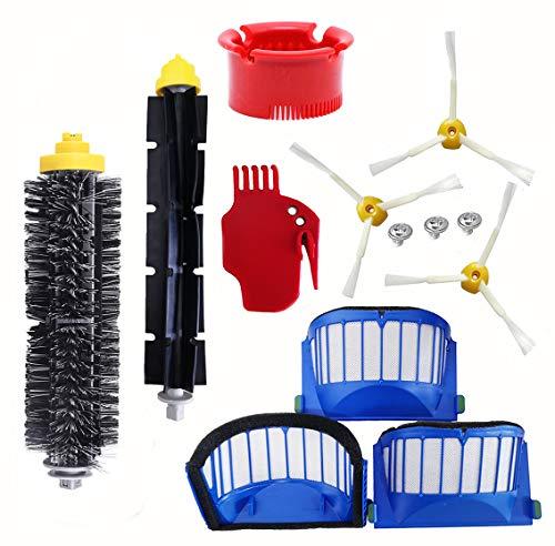 ZHIHUI Kit de Accesorios de Repuesto para aspiradoras iRobot Roomba 536 551 552 564 595 589 585 618 620 660 650 651 680 690 (no Compatible con los Modelos 645 y 655)