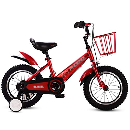 Brilliant firm Vélos Enfants Vélo for Enfants vélo Portable vélo for Hommes et Femmes Poussette de 3 à 10 Ans Enfants de Toutes Tailles (Color : Red, Size : 14inches)