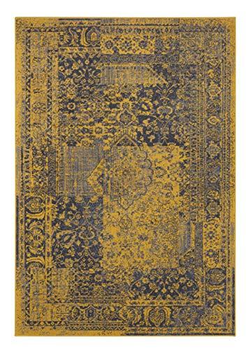 Hanse Home velours tapijt Plume 80x150 cm Goud antraciet.