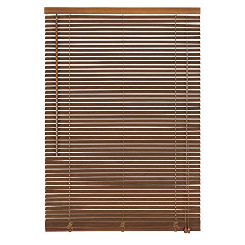 Easy-Shadow Holzjalousie Holz-Jalousie Bambus Jalousette Echtholz Rollo Jalousette 30 x 190 cm / 30x190 cm in Farbe teak - Bedienseite rechts // Maßanfertigung
