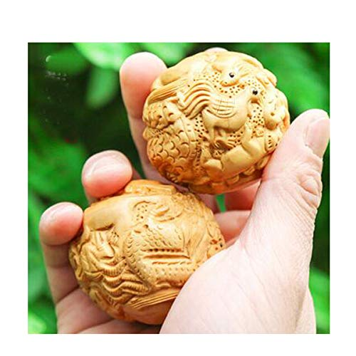Why Should You Buy Kaiyitong Fitness Ball, Boxwood Fitness Ball, Wood Carving Crafts for Middle-Aged...