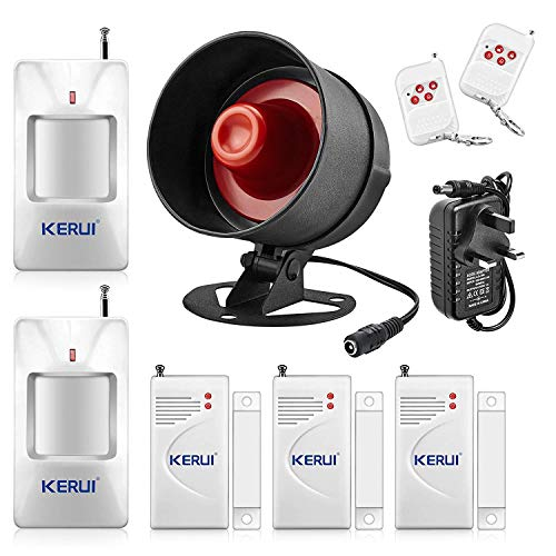 KERUI 115db DIY Wireless Home Security System,Indoor Outdoor Weather-Proof...