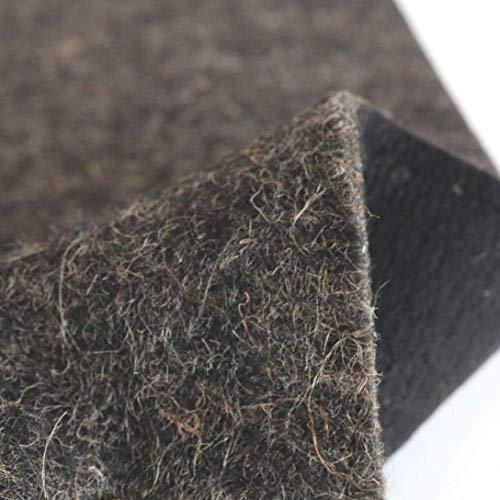 TOLKO 50cm Filzstoff als Dämmstoff Isolierstoff und Polsterstoff Meterware | 1cm dick | Formstabil Reißfest Abriebfest | Robuster Bezugstoff/Möbelstoff aus Filz, 130cm breit (Grau meliert)