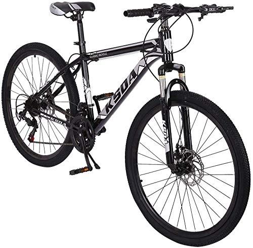 26 inch Junior Aluminum Full Mountain Bike Stone Mountain 21-Speed Bicycle-Black