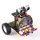 Yahboom BBC Micro:bit Coding Robot STEM Education Kit for Kids to Programmable DIY Toy RC Car with Tutorial for 10+ (Compatible with V1.5 & V2, Without Micro:bit)