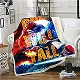 WFQTT Manta 3D Godzilla contra King Kong, acogedora manta de microfibra de felpa, para todas las estaciones, para sofá, manta de felpa de dibujos animados para cama y sofá (1,60 x 50 pulgadas)