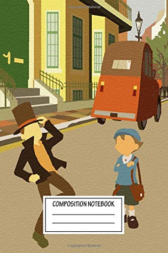 Composition Notebook: Cartoons Professor Layton Video Game Posters Wide Ruled Note Book, Diary, Planner, Journal for Writing