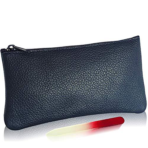 Lederssoires | Kosmetiktasche Klein Für Handtasche | Make Up Tasche Klein | Echt Leder | Schminktasche Klein | Kleiner Kulturbeutel Schwarz | Made In Germany | Jetzt Farbe wählen