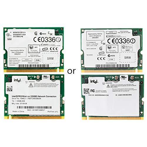 BIlinli Intel Pro/Wireless 2200BG 802.11B / G Mini PCI Tarjeta de Red WiFi para Toshiba DELL