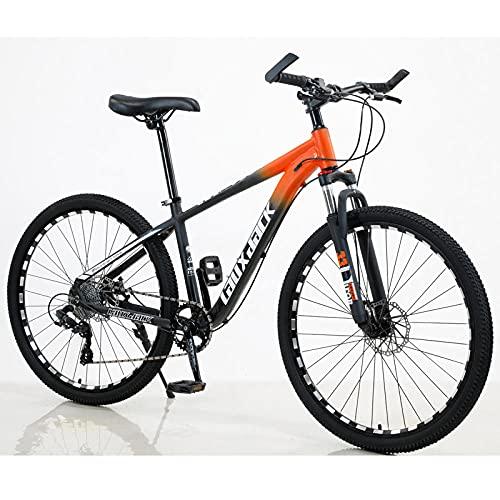 Bicicleta De Montaña De Aleación De Aluminio, Bicicleta, Freno De Aceite Amortiguador, Bicicleta De Montaña-Naranja Negra_27 Velocidadbicicleta Electrica Plegable