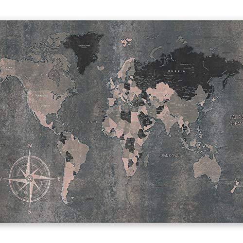 murando Fototapete Weltkarte 400x280 cm Vlies Tapeten Wandtapete XXL Moderne Wanddeko Design Wand Dekoration Wohnzimmer Schlafzimmer Büro Flur Welt Karte k-A-0057-a-d