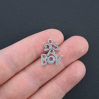 Extensive Collection of Charm 6 Baby Boy Charms Antique Silver Tone Its A Boy - SC3326 Express Yourself