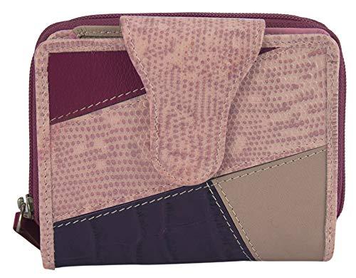 Sunsa Geldbörse für Damen Kleiner Leder Geldbeutel Portemonnaie mit RFID Schutz Brieftasche mit viele Kreditkarten Fächer Geldtasche Wallet Purses for Women das Beste Gift kleine Geschenk 81703