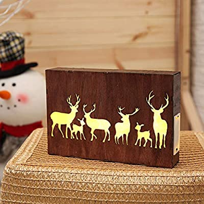 Longay Wooden Photo Frames 3D Led Table Night Light Decoration Lamp On/Off Switch
