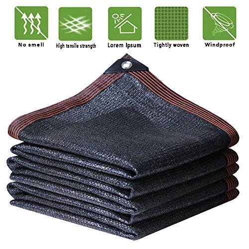 KAISIMYS Sunblock Shade Net, protección Solar de encriptación, Engrosamiento, Aislamiento térmico, sombreado, almacén, Obra de Polietileno, Personalizable (Color: Negro, tamaño: 2x4 m)