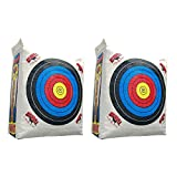 Morrell Weatherproof Supreme Range Adult Field Point Archery Bag Target with NASP Scoring Rings, Nucleus Center, and IFS Technology (2 Pack)
