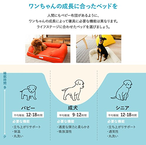 neDOGko(ねどっこ)犬ペットベッドペットベッド犬用ベッドエアー素材Lサイズサニーオレンジ中型犬大型犬洗える耐噛み丈夫立ち上がりサポートシニア介護