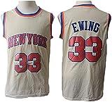 WSWZ Camiseta De Baloncesto De La NBA para Hombre - NBA Knicks 33# Camisetas De Patrick Ewing - Chalecos Cómodos Casuales Camisetas Deportivas Camisetas Sin Mangas,B,XL(180~185CM/85~95KG)