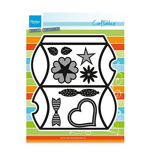 Marianne Design craftables Plantillas de Corte y Embossing,Caja de Almohadas, para proyectos de Manualidades de Papel, Metal, Gris, 165x220