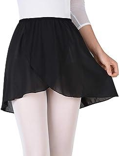 Bezioner Girls Ballet/Dance Wrap Skirt Chiffon Ballet Skirt Women Pull on Elastic Waist