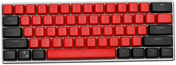 Taide 61 Key ANSI Layout OEM Profile PBT Thick Keycaps for 60% Mechanical Keyboard (Color 1)