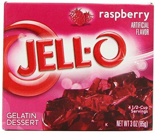 Jell-O Gelatin Dessert, Raspberry, 3 oz (2 Pack)