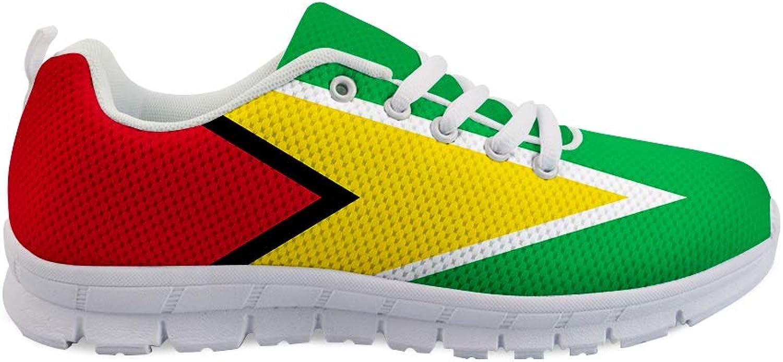 Oaheson Lace -up Sneeaker Sneeaker Sneeaker Training skor herr kvinnor Guyana Flag  billigt och mode