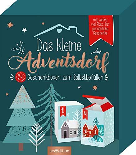 Das kleine Adventsdorf. 24 Geschenkboxen zum Selbstbefüllen (Adventskalender)