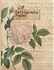 Calligraphy Paper: Vintage Paper Cover 200 Sheet Pages: Calligraphy Practice Paper And Workbook For Lettering Artist , Beginners