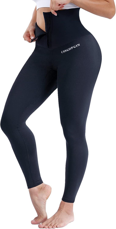 CANGHPGIN High Waist Shapewear Leggings for Women Tummy Control Body Shaping Corsets Waist Trainer Workout Yoga Pants
