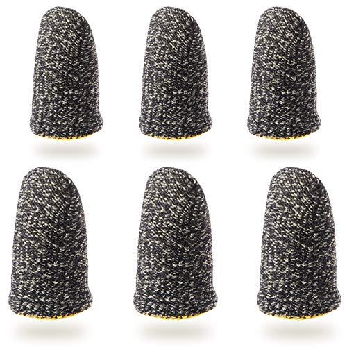 Tipkits Finger Sleeves for Gaming, Thumb Sleeves Mobile Gaming for Pubg Fortnine [6 PCS]