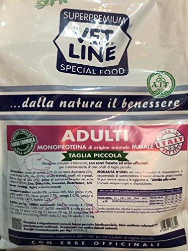 Vet Line monoproteico maiale adulto taglia piccola 3kg