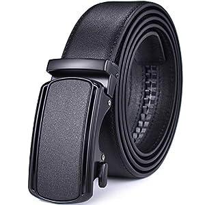 Men Belts Leather Male Slide Ratchet Work Dress Strap w Interchangeable Buckle Beltox