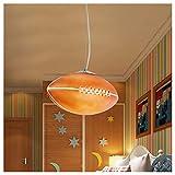 Enfants Lustres de Plafond Lampe pendante de ballon de rugby,lumière créative moderne de dessin animé de personnalité créatrice, plafonniers de chambre d'enfants à coucher de bar de club déco,E27