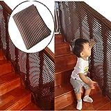 階段安全ネット、階段保護ネット子供落下防止ネット安全保護階段手すり階段ネットバルコニーフェンスは手すりを傷つけず、パンチする必要はありません