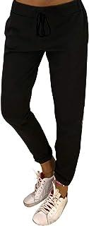Sylar Pantalones Para Mujer De Invierno, Moda Estampado De Leopardo Patchwork Slim Fit Bolsillo Pantalones Deportivos Pant...