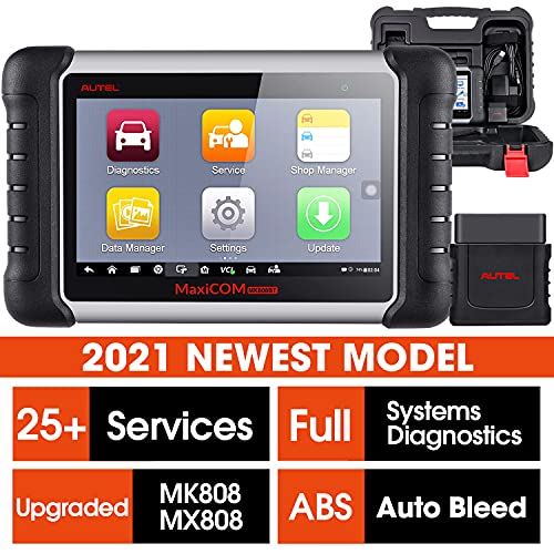 Autel MaxiCOM MK808BT, 2021 Newest Wireless Diagnostic Scanner MK808 Upgrade Version Full System OBD2 Diagnostic Tool 25+ Service ABS Brake Bleed Oil Reset DPF SAS EPB BMS Injector Coding IMMO TPMS