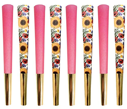 Beautiful Burns, Power Pink & Sunflower Salutation Combo, Pre-Rolled Cones 8 Pack